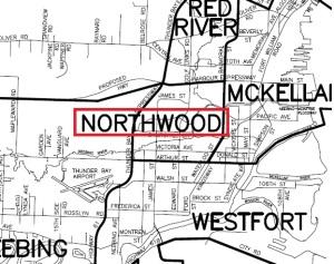 Northwood Map Thunder Bay